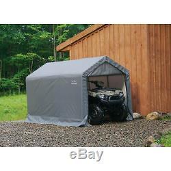 Shed-in-a-Box 6' x 10' x 6'6/18m x 3m x 2m Peak Style Storage Shed, Gray