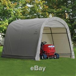 ShelterLogic Shed and Storage Series 6' x 10' x 6'-6 Grey Shed / Model 70403
