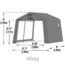 ShelterLogic Shed-in-a-Box 8 ft. X 8 ft. Plastic Horizontal Peak Stor -Pack of 1