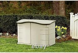 Small Horizontal Resin Outdoor Garden Patio Lawn Garden Tools Storage Shed