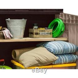 Small Storage Shed Pool Equipment Patio Cushion Outdoor Garbage Can Container