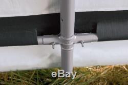Steel Metal Peak Roof Outdoor Storage Shed With Waterproof Cover 6' x 6' x 6