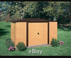 Steel Storage Shed 10' x 8' Gable Roof And 413 Cubic Feet Of Storage For Outdoor