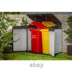 Storage Cabinet Elite-Store 4.58ft. X 2.67ft. X 4.08ft. Resin Horizontal Storage