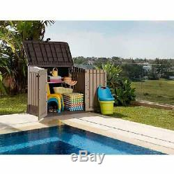 Storage Cabinet Plastic Shed Tool Box Outdoor Patio Garage Utility Garden Pool
