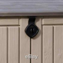 Storage Resin Outdoor Box Deck Shed Keter Sheds Patio Garden Organizer Cabinet
