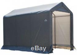 Storage Shed 6 ft. X 10 ft. X 6 ft. Grey Peak Barn Style Steel Frame Single Door