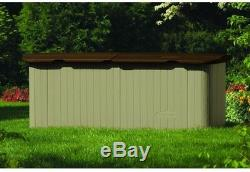 Storage Shed Chest 3 ft. X 7 ft. 4 in. Multi-Purpose Lockable Split Lid Resin