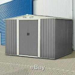 Storage Shed Garden Storage Building Outdoor Tool House Sliding Door Gable Roof