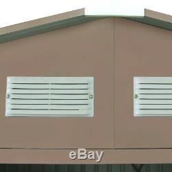 Storage Shed Outdoor Garden Storage Building Tool House Sliding Door Floor Frame