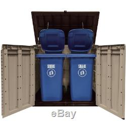 Store-It-Out Max 5 ft. W x 3 ft. D Plastic Horizontal Garbage Shed. 38.97 cu ft