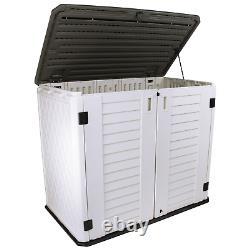 Stout Stuff 26 Cu. Ft. Plastic Outdoor Horizontal Storage Shed