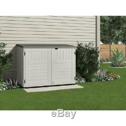 Stow-Away 3 ft. 8 in. X 5 ft. 11 in. Resin Horizontal Storage Shed