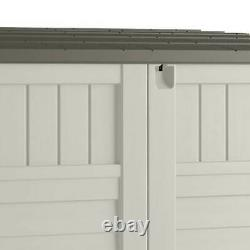 Suncast 34 CU Durable Resin Horizontal Storage Shed with Reinforced Floor (2 Pack)