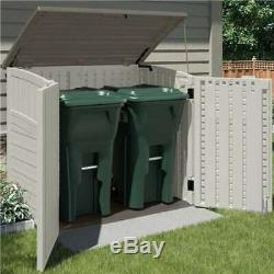 Suncast 34 Cu. Ft. Resin Storage Shed withReinforced Floor (Open Box) (2 Pack)