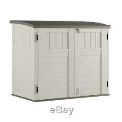Suncast 34 Cubic Feet Resin Horizontal Storage Shed with Reinforced Floor (Used)
