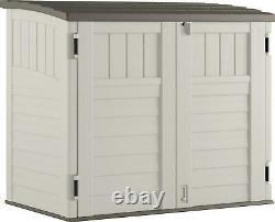 Suncast 34 cu. Ft. Horizontal Outdoor Backyard Storage Shed, Vanilla
