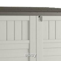 Suncast 34 cu. Ft. Horizontal Outdoor Backyard Storage Shed, Vanilla White