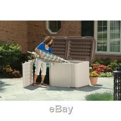 Suncast 34 in. H x 88 in. W x 36 in. D Beige Plastic Outdoor Storage Shed