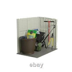 Suncast 4 ft. X 2 ft. Plastic Horizontal Storage Shed with Floor Kit -Pack of 1