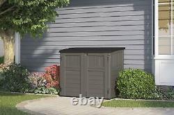Suncast 4' x 2' Horizontal Storage Shed Natural Wood-Like Outdoor Storage f