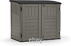 Suncast 4' x 2' Horizontal Storage Shed Natural Wood-Like Outdoor Storage for