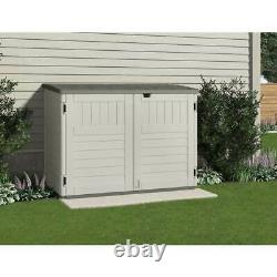 Suncast 5 ft. 11 in. W x 3 ft. 8 in. D Stow Away Resin Horizontal Shed, Vanilla