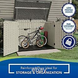Suncast 5' x 3' Horizontal Stow-Away Storage Shed Natural Wood-like Outdoor