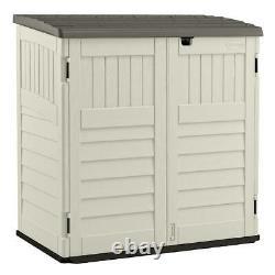 Suncast 70 cu. Ft. Stow-Away Horizontal Trash Can Shed, BMS4700