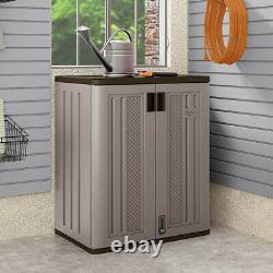 Suncast BMC3600 9 Cu Ft Heavy Duty Resin Garage Base Storage Cabinet, Platinum