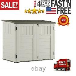 Suncast BMS2500 53 x 31.5 x 45.5 Horizontal Resin Outdoor Storage Shed with Floor