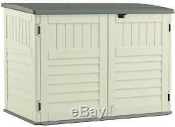 Suncast BMS4700 Horizontal Storage Shed, 3 ft 8-1/4 in L x 5 ft 10-1/2 in W x 4