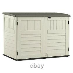 Suncast Bms4700 70 Cu. Ft. Vanilla/Stoney Resin Outdoor Horizontal Storage Shed