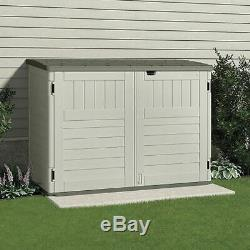 Suncast Outdoor Storage Shed, 70-1/2inWx44-1/4inD Vanilla/Stoney Resin BMS4700