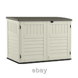 Suncast Storage Shed 3-Ft 8 x 5' 11-Inch Stow-Away Resin Horizontal