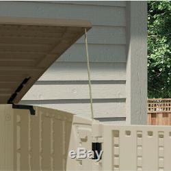 Suncast Storage Shed Garden Tool Organizer Outdoor Patio Pool Resin Horizontal