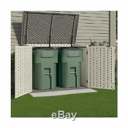 Suncast Storage Shed Lockable Door 70 Cubic Feet Resin Outdoor Garden Backyard