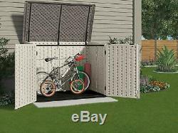 Suncast Stow Away Horizontal Storage Shed Outdoor Storage Shed for Backya