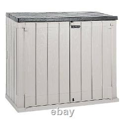 Toomax StoraWay Plus XL All-Weather Horizontal Storage Shed Cabinet, 44 cu ft