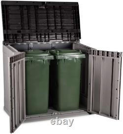 Toomax Stora Way All-Weather Outdoor Horizontal Storage Shed Cabinet For Trash C