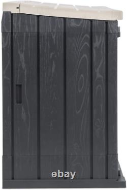 Toomax Stora Way All-Weather Resin Outdoor Horizontal Storage Shed Cabinet for T