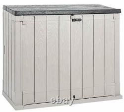Toomax Stora Way Plus XL All-Weather Resin Outdoor Horizontal Storage Shed Ca