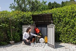 Toomax Stora Way Plus Xl All-Weather Resin Outdoor Horizontal Storage Shed Cabin
