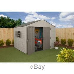 US Leisure Keter Stronghold Resin Outdoor Storage Shed 10 x 8 Ft. 540 cu. Ft