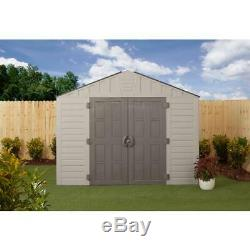 US Leisure Storage Shed 10 ft. X 8 ft. Heavy Duty Floor Panels Resin Gray