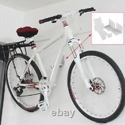 White Bike Pedal Hook Bike Rack Shed Garage Wall Hanger Storage Horizontal