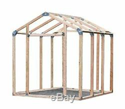 Wooden 7-ft. X 8-ft. Outdoor Storage Shed Garden Utility Garage Yard Wood Tools