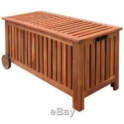 Wooden Garden Outdoor Storage Shed Box Cabinet Chest with 2 wheels waterproof bag