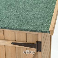 Wooden Outdoor Storage Garden Shed Cabinet 64 High 2 Shelves Weatherproof