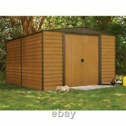 Woodridge 10x12 Storage Shed Coffee / Woodgrain